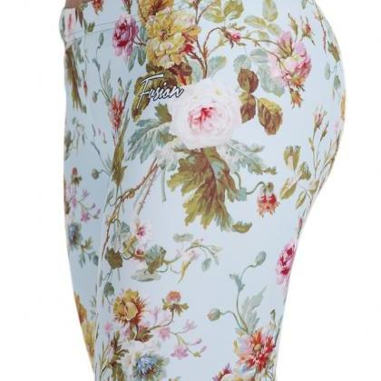 Dijon Rose Printed Leggings by Fusi..