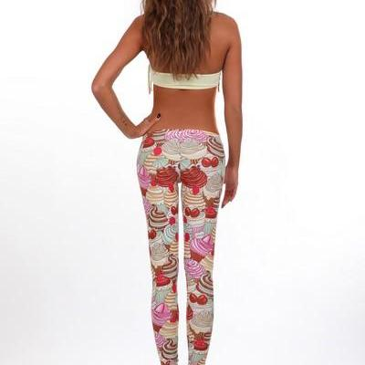 Cupcakes Leggings by Fusion Clothin..