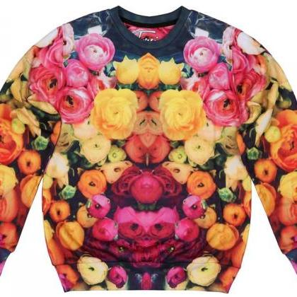 Ranunculus Printed Sweatshirt by F..