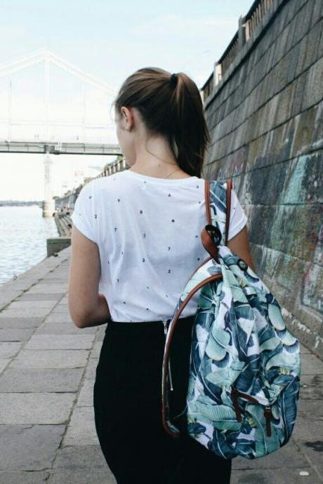 Fusion TROPIC LEAVES Printed Backpack