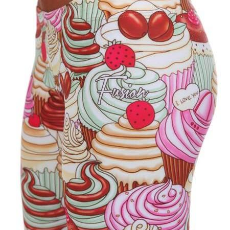 Cupcakes Leggings by Fusion Clothing